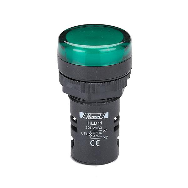 چراغ سیگنال هیمل 220 ولت AC/DC سبز سری HLD11
