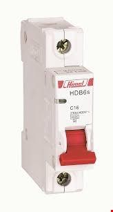 کلید مینیاتوری Himel تیپ B تک پل 1 آمپر سری HDB6S با جریان های 1/2/4/6/10/16/20/25/32/40/50/63A